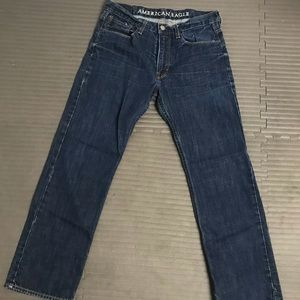 American Eagle Relaxed Dark Wash Jeans 33x32
